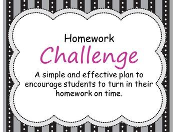 Homework Challenge- Motivation & Incentives to Get Students to Turn In Homework