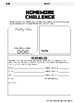 Homework Challenge Template for Students with Disabilities