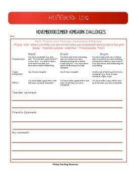 Homework Challenges for November and December