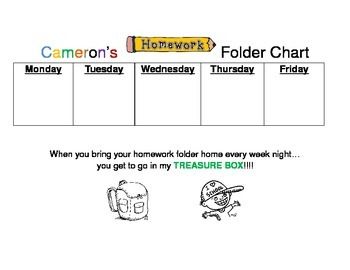 Homework Chart-Great for Student Responsibility