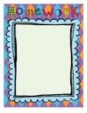 Homework Chart - Blank