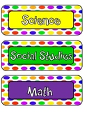 Homework Chart with Subjects