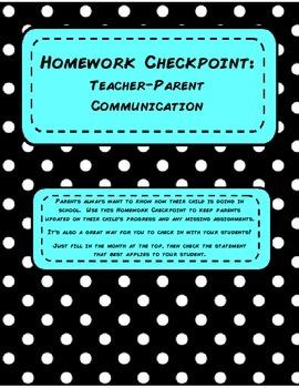 Homework Check Point- Teacher/Parent Communication