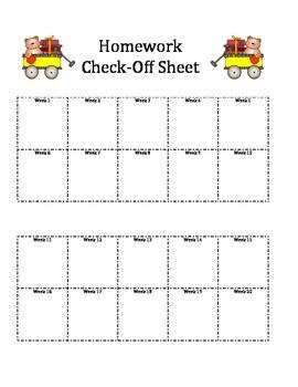 Homework Check off Sheet