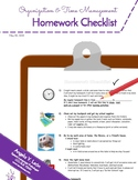 Homework Checklist (for independence and productivity)