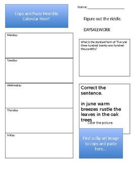 Homework Checklist (MLK/February)