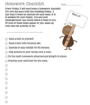Homework Checklist {editable}