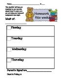 Homework Checklist for Kids
