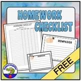 FREE Homework Checklist for Middle School or High School