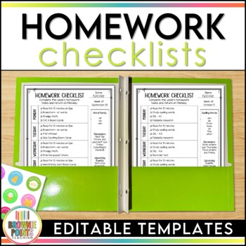 Homework Checklists