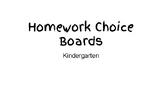 Homework Choice Boards