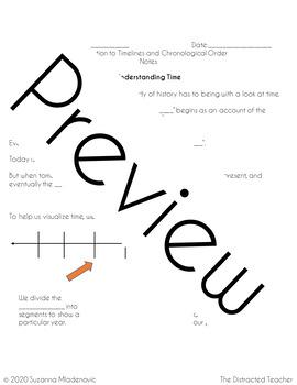 Homework: Chronological Order & Timelines