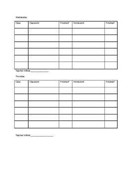 Homework Classwork Grade Tracker