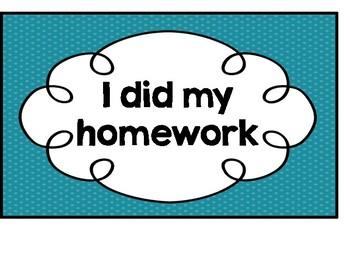 Homework Clip Chart