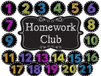 Homework Club - Black and Brights/ Chalk Board