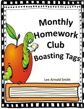 Homework Club Brag Tags