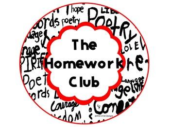 Homework Club Bulletin Board