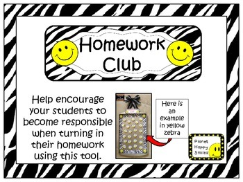 Yellow Smiley Face, Happy Face Homework Club & Discussion Sticks