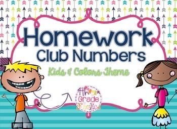 Homework Club Header and Numbers - Kids & Colors Theme