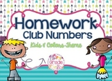 Homework Club Header and Numbers - Kids & Colors Theme