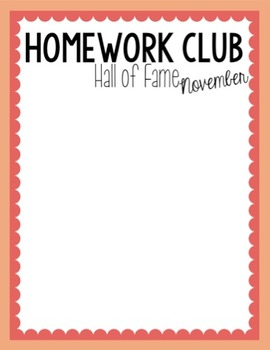 Homework Club High Five (Homework Passes and Posters)