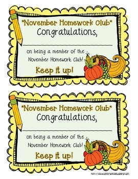 Homework Club {Homework Motivation Pack!}