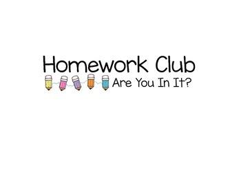Homework Club Label