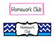Homework Club Numbers & Header