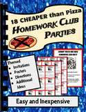 Back to School Homework Club Parties Party Invitations Motivational Reward Prize