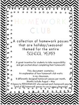 Homework Club & Passes