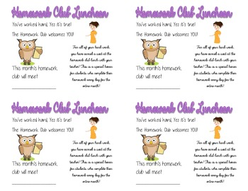 Homework Club Postcards