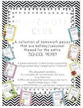Homework Club Preview FREEBIE!