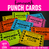 Homework Club Punch Cards