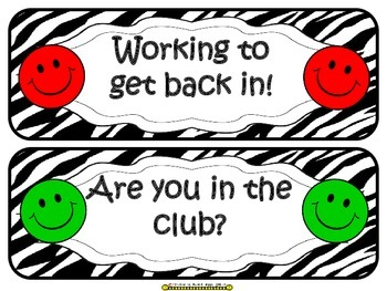 Homework Club ~ Purple Smiley Face and Zebra Print