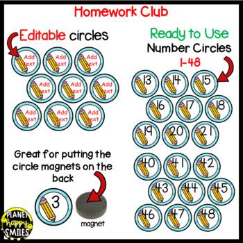 "Homework Club ~ ""Under the Sea"" Ocean Theme with Pencil"