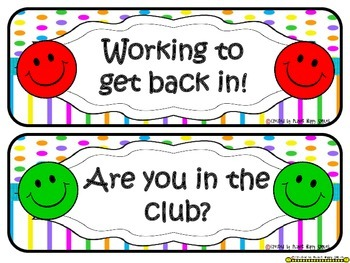 Homework Club and Bookmarks ~ Bright Polka Dots and Stripes