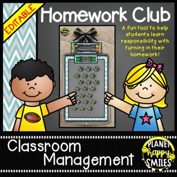 Homework Club and Bookmarks, Teal and Chalkboard theme
