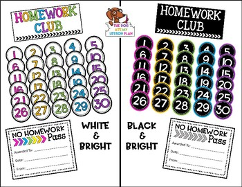 Homework Club and Numbers
