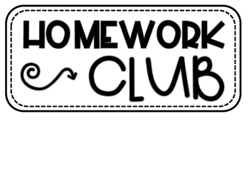 Homework Club board