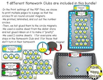 Homework Club ~ Polka Dot with Happy Faces Bundle