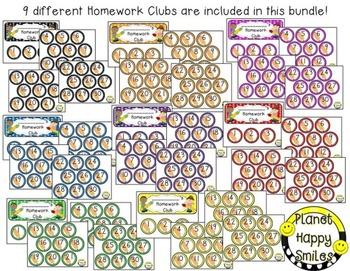 Homework Club ~ Polka Dot Print with Pencil Bundle