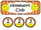 Homework Club in Orange Polka Dot Print with Happy Faces