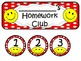 Homework Club in Red Polka Dot Print with Happy Faces