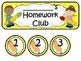Homework Club in Yellow Polka Dot Print with Pencil