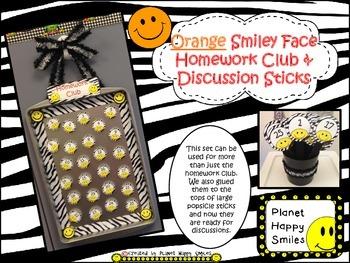 Homework Club ~ Orange Smiley Face and Zebra Print