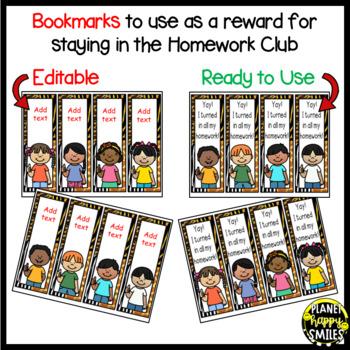 Homework Club in a Jungle/Safari Theme