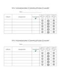 Homework Completion & Rating Organizer