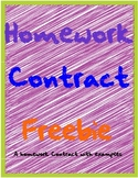Homework Contract Freebie