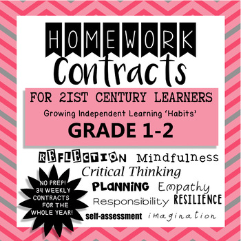 Homework Contracts for the 21st Century Learner - Grade 1-