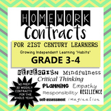 Homework Contracts for 21st Century Learners - Grade 3-4 W